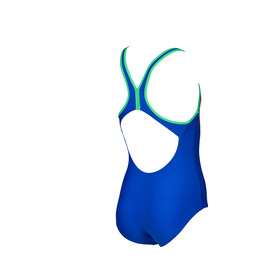 arena Scratchy One Piece Swimsuit Girls neon blue/golf green